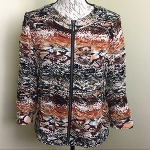Chico's women's size 1 Medium Animal Print Jacket